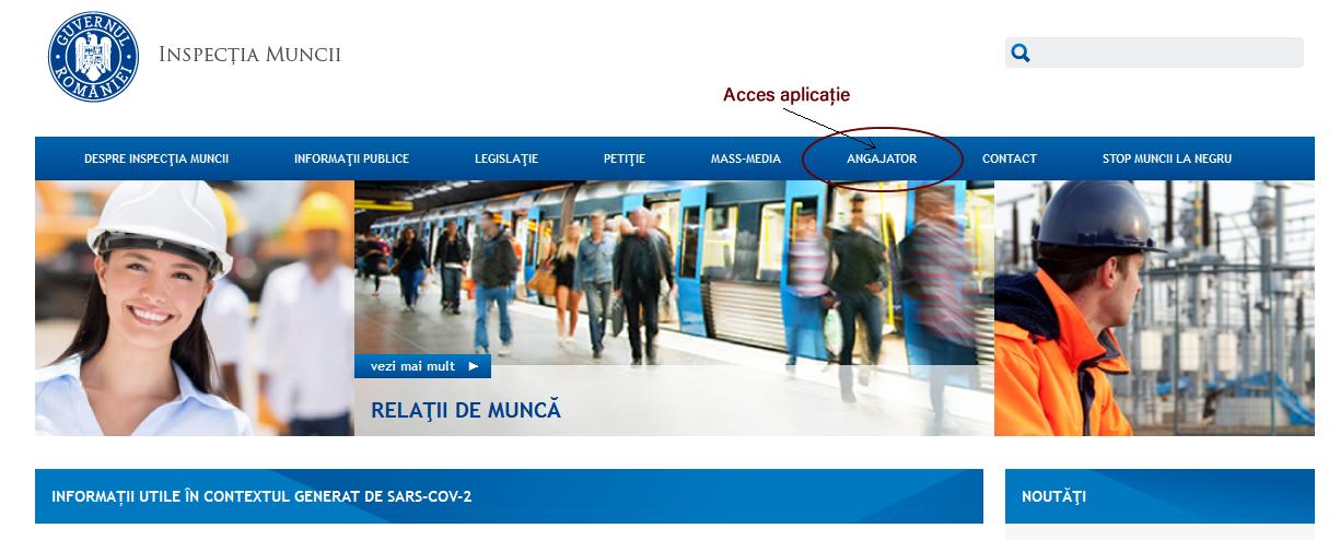 Documente transmise online prin portalul extern al Inspectiei Muncii